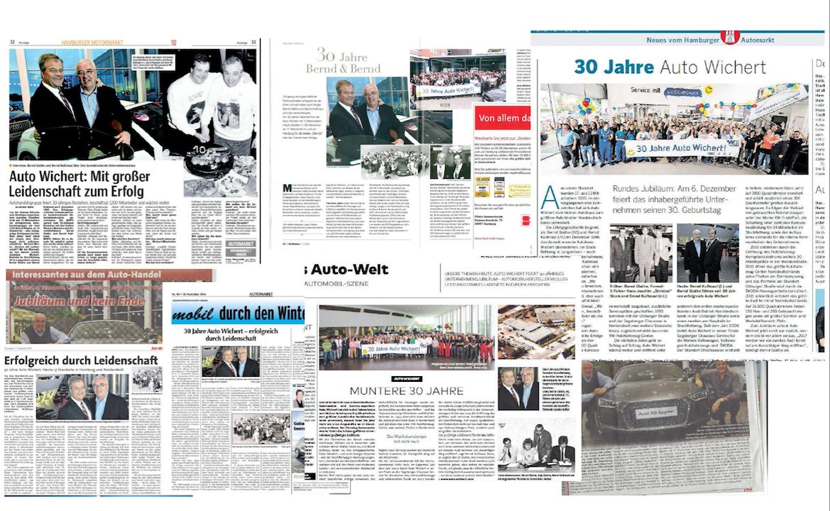 30 Jahre Auto Wichert : Pressespiegel