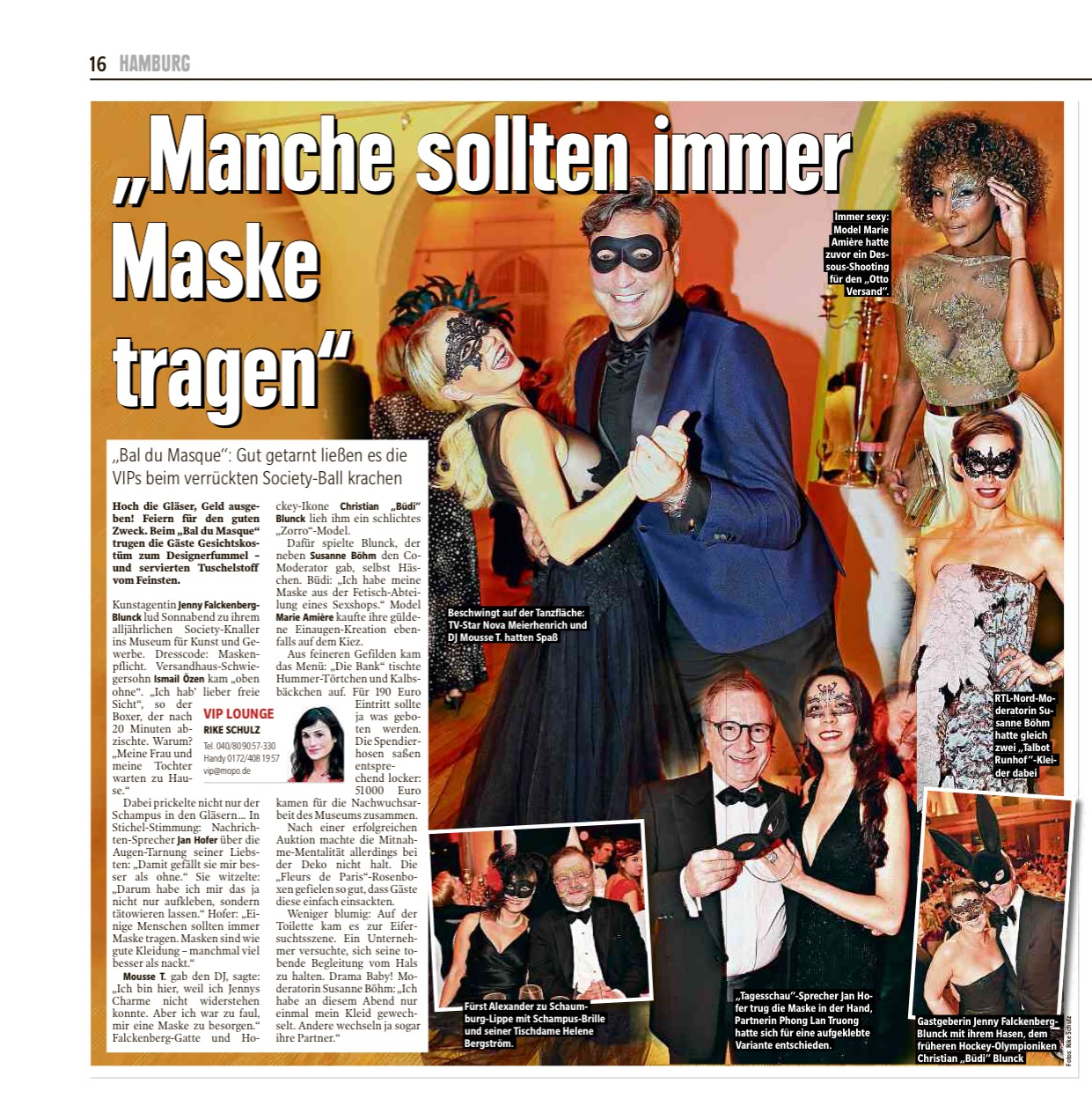 05.02.2018 Hamburger Morgenpost Bal du Masque
