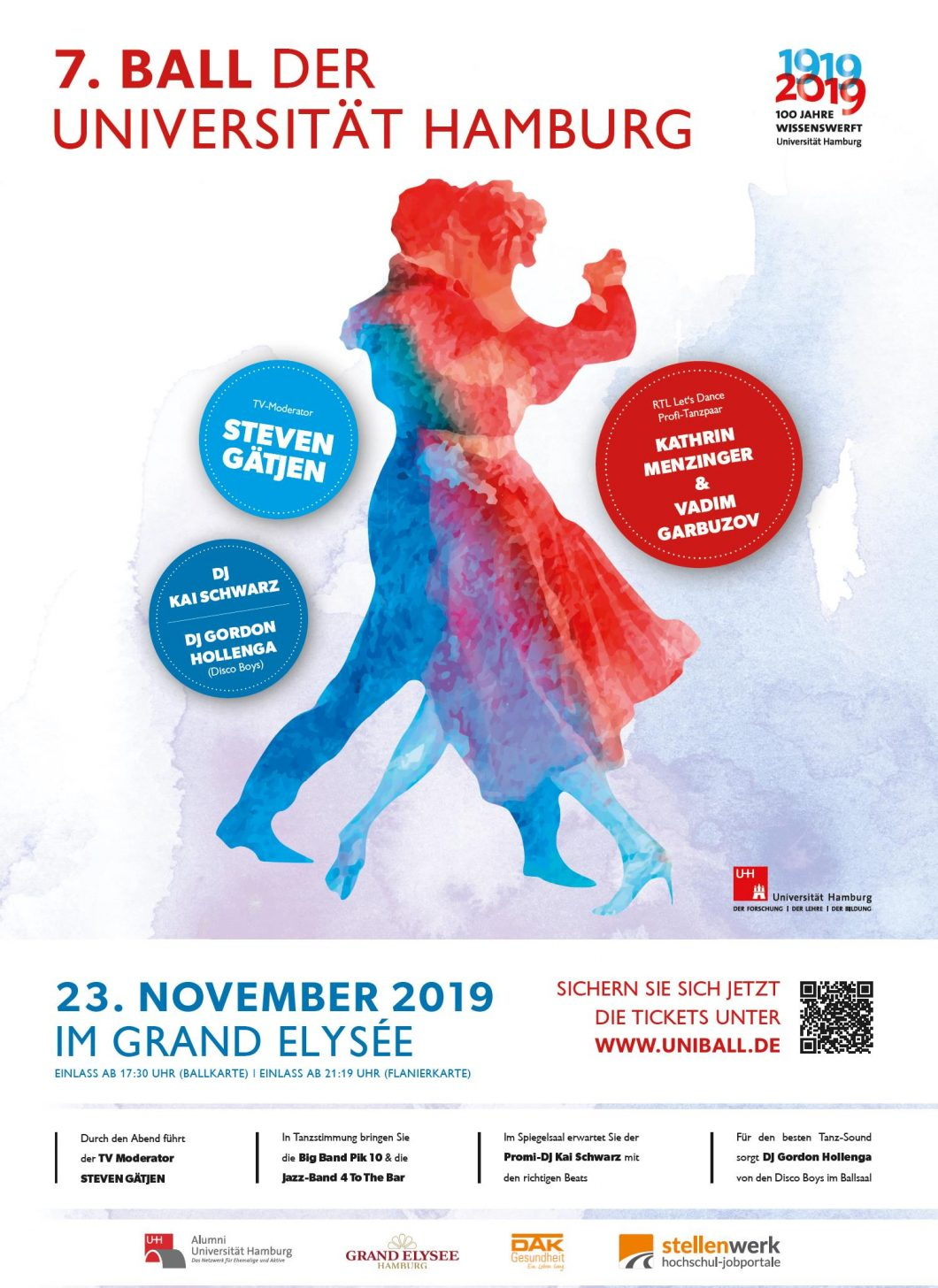 7. Ball der Universität Hamburg am 23. November 2019