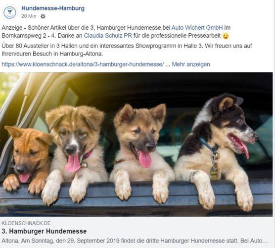 3. Hamburger Hundemesse || Auto Wichert