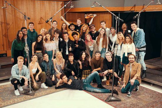 """Channel Aid: We are the World 2018 - Remake für den guten Zweck! / Online-Premiere am 18.12.2018 um 21:00 Uhr / Alle YouTube-Creator im Studio in Los Angeles. Weiterer Text über ots und www.presseportal.de/nr/127363 / Die Verwendung dieses Bildes ist für redaktionelle Zwecke honorarfrei. Veröffentlichung bitte unter Quellenangabe: """"obs/FABS Foundation"""""""